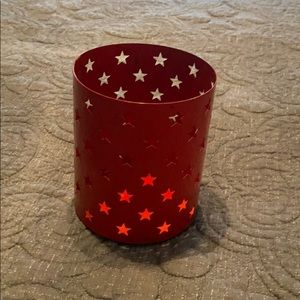 Red star candle holder